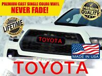 TOYOTA TACOMA TRD PRO Grille Logo Decal Grill Letter Sticker 2016 17 18 19 2020