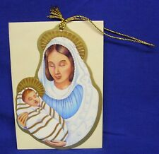 Hallmark Christmas Keepers Hanging Card Gift Tag Madonna and Child Sue Hobbs