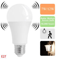 E27 Radar Sensor Ambient PIR Motion 15W LED Globe Bulb Light Lamp Practical