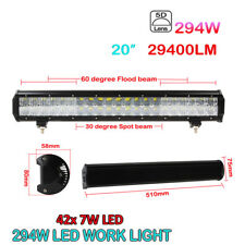 20INCH 294W LED SPOT&FLOOD COMBO OFFROAD WORK LIGHT BAR 4WD ATV TRUCK 29400LM