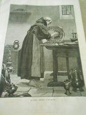 Gravure 1874 - Le Frère Convers