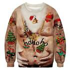 Women Men Christmas Xmas Sweatshirt Ugly Sweater Jumper Couple Pullover Costume
