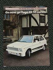 Zastava Yugo 1985 UK Sales Leaflet Brochure 45 55 series L GL GLS