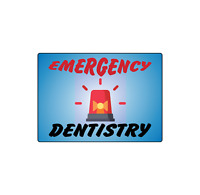 EMERGENCY DENTISTRY DENTIST STOREFRONT SIGN | Adhesive Vinyl Sign Decal