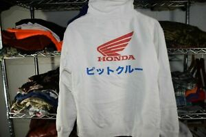 Honda Tokyo Japan Hoodie Sweatshirt Men's Medium White