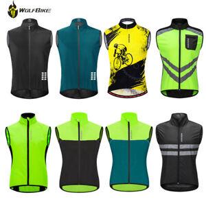 Hi Vis Reflective Cycling Jacket Windproof Running Sports Men Tops Rider Gilet