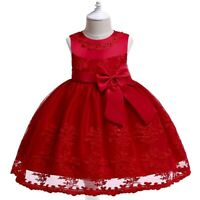 Flower Girl's Princess Dresses Party Evening Gown Kids Pageant Dress Xmas Gift