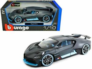 1:18 Bugatti Divo -- Metallic Black/Blue -- Bburago