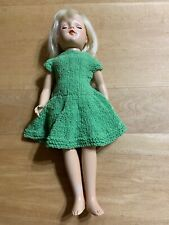 Lovely Pale Blonde Mary Hoyer Hard Plastic Doll-dressed In Vintage Green Knit