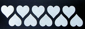 iron on transfers wholesale 50 iron on hearts 25mm. size white custom printing