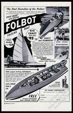 1954 Folbot Faltbar Boot 4 Foto Vintage Aufdruck Anzeige