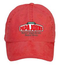 PaPa Johns Logo Cotton Washed Baseball Cap Adjustable One Size ColorName