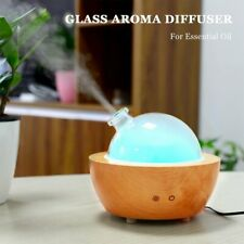 200ml Essential Oil Diffuser made from Wood and Glass Dome For Aromatherapy