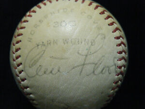 Vintage Curt Flood (D-1997) signed Ken Boyer St. Louis Cardinals lbaseball WOS