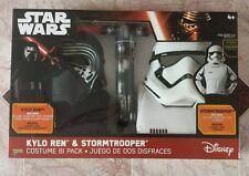 NEW Star Wars Force Awakens Kylo Ren & Stormtrooper Costume Mask Saber 6pc Pack