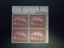 1960 #1032 1 1/2c Mount Vernon Plate Block MNH OG