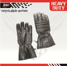 Driving Gloves Biker Motorcycle Glove Leather Soft Full Finger Black