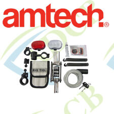 Amtech Bicycle Accessory Kit BIke  Light Flashlight Cable Lock Puncture Repair