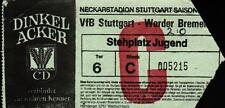 Ticket BL 85/86 VfB Stuttgart - Werder Bremen, 26.04.1986