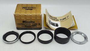 Minolta Extension Tube Set II for Minolta SR MD - EB No.1 2 3 & EL w/ Box Manual