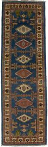 3X8 Geometric Tribal Design Runner Rug Oriental Handmade Kitchen Carpet 2'7X8'4