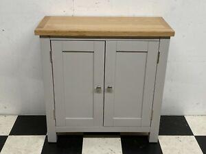 Rutland grey painted oak topped double door cupboard cabinet sideboard- Delivery