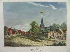 WACHAU MARKKLEEBERG LEIPZIG KOL. KUPFERSTICH ANSICHT 1815 R2