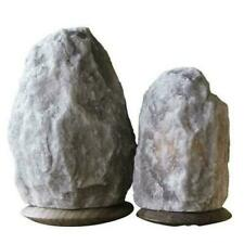 Rare Himalayan Grey Salt Lamp, Natural Gray Salt Lamp with Bulb & Cable CE