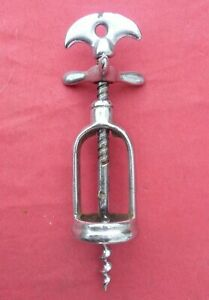 french antique helical iron corkscrew