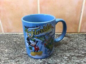 Disney Welcome to Florida Jerry Leigh Mickey Mouse Blue mug Orlando