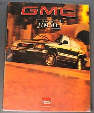 1996 GMC Jimmy Truck Brochure 4x4 SL SLS SLE SLT Excellent Original 96 Canadian