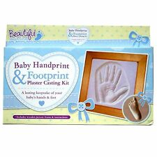 Beautiful Beginnings Baby First Hand And Foot Print Plaster Moulding Kit Frame