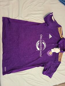 Adidas AdiZero Authentic Orlando City FC Soccer Jersey Polo L $85 NEW NWT MLS