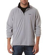 REEBOK soft grey polar fleece felpa maglia maglione pile uomo S 46 IT grigio NWT