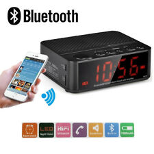 Bluetooth Wireless Speaker with Alarm Clock, Radio, SD card, USB BLACK