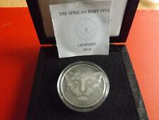 *750st! Burundi 5000 Franc 2014 1Oz Silber Antique Finish*Leoparden-Baby (Ki.11)