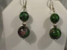 Ruby Ziosite Dangle Earrings