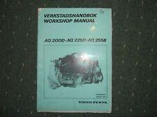 Werkstatthanbuch aq200 - 225 - 255 benzina motore Volvo Penta