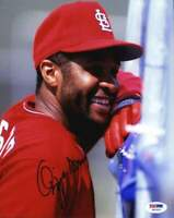 Ozzie Smith PSA/DNA authentic signed baseball 8x10 photo |Cert Autographed A0001