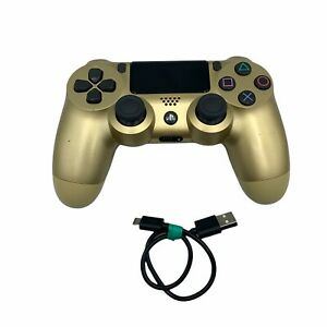 USED Sony PS4 PlayStation 4 DualShock ZCT2U Gaming Controller Custom Gold