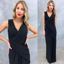 Gorgeous  14 NAVY , Wedding , FORMAL STRETCH JERSEY SLIT Dress
