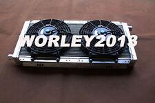 Aluminum radiator + fans for LOTUS ELISE & EXIGE SERIES 1&2 & VAUXHALL VX220 MT