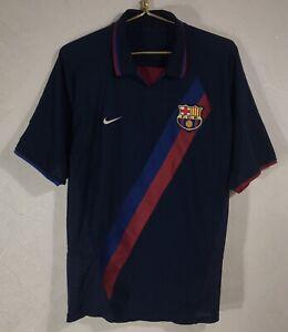 FC BARCELONA 2002 2003 2004 AWAY FOOTBALL SOCCER SHIRT JERSEY VINTAGE NIKE BLACK