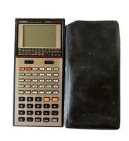 RARE Vintage CASIO FX-8000G Scientific Graphic LCD Calculator w/ Case - Works