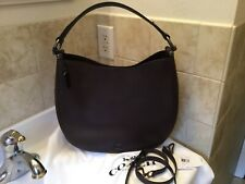 NWT Coach Nomad Hobo Glovetanned Leather Oxblood Black Copper 36026