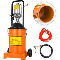 3 Gallon Grease Pump Air Pneumatic 12L Wheels 50:1 Pressure Ratio Spray Gun