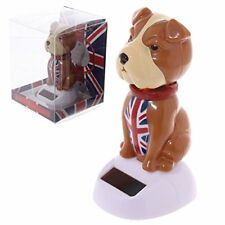 Solar Powered British Bulldog Nodding Novelty Toy ++Free Shipping