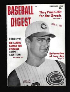 1962 Baseball Digest (Feb), Cincinnati Reds' Joey Jay - Mint