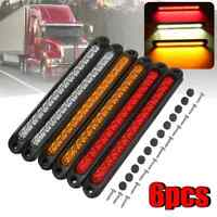 6pcs 15LED Trailer Truck Caravan UTE Stop Brake Tail Reverse Light Ultra-Slim