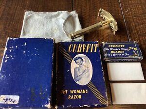 Vintage 'Curvfit' Ladies Safety Razor Boxed & Blades USA